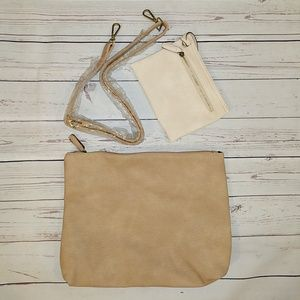 Free People Vegan leather clutch & accessories